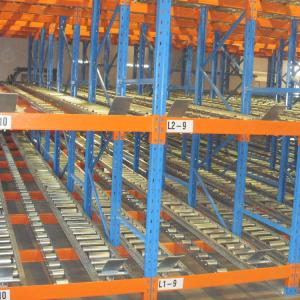 China Industrial Cold Storage Carton Flow Shelving Roller Conveyor System For Warehouse on sale