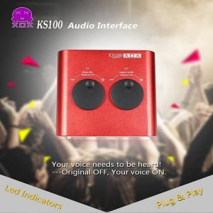 China Audio Interface XOX KS100 Multifunctional USB Sound Card for online karaoke Chatting Recording on sale