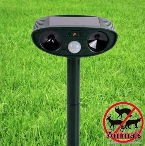 China Solar Sonic Ultrasonic Electronic Led Animal Dog Cat Pest Insect Repeller Away Chaser Stop on sale