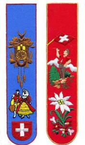 China Embroidery handmade machine embroidery bookmarks souvenir / gift and craft supplier