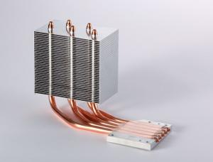 China Heatpipe CPU Aluminum Heatsink With Copper For Thermoelectric Cooling on sale