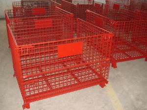 China High Strength Industrial Metal Pallet Cages Warehousing / Component Storage on sale