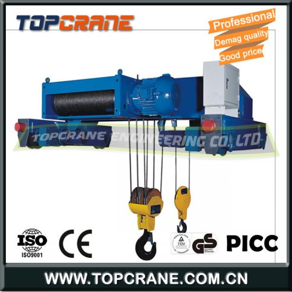 Good quality Demag type electric wire rope hoist for single beam ...