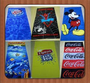 China Custom cartoon Microfiber towels plain dyed beach towel microfiber bath towel on sale