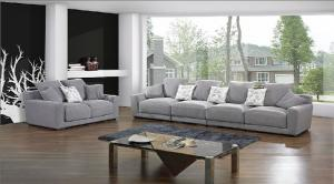 Quality Grey White Modern Fabric Sofas , 2 Seater 3 seater sofa set Fabric for sale