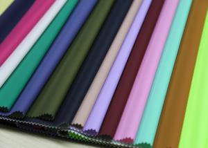 China 0.3 - 0.4mm Thickness PU Synthetic Leather Dry Process For Garment And Raincoat on sale
