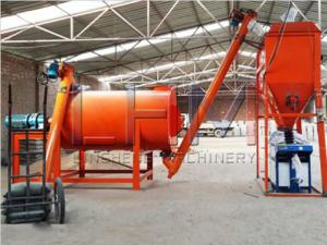 China Dry Mortar production line made by Henan Ling Heng machinery company with capacity 1-60t/h on sale