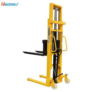 China Double Mast Manual Forklift Stacker 1000KG 2000MM Robust Steel Constructure on sale