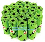 Cornstarch Based Eco Compostable Dog Poop Pick Bag - 4Refill Rolls,60Bags, EN13432 BPI OK compost home cheap price high