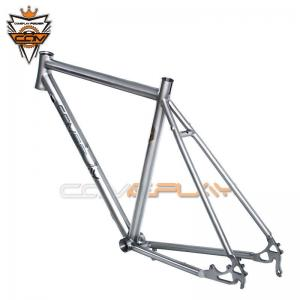 China Alloy Titanium Road Bike Frame Disc Brake Internal Or External Cable Routing on sale