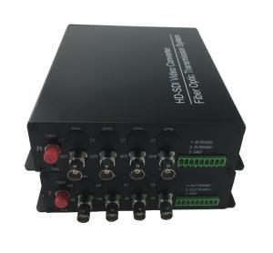 China 4 channels 1080P@30fps HD SDI to Fiber Video Converter cctv video transmitter receiver with rs485 on sale