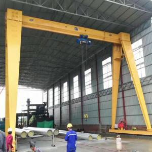 China Multipurpose Single Girder Gantry Crane 5T 10T 20T For Concrete Marble Block Granite Lifting on sale