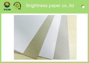 China Anti Curl Whiteness Grey Back Duplex Board With One Side Offset Printing supplier