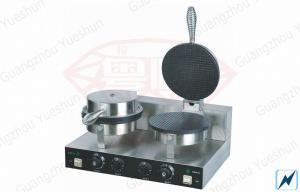 China Commercial Waffle Maker , Electric Cone Baker With 2 Plate on sale