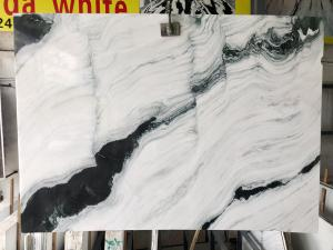 China Polished Marble Kitchen Tops Wall Honed Exotic Panda Black White Marble Slabs Tile Stone Block Floor wholesale