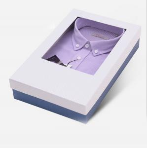 China Custom design soft cardboard paper packaging box for shirt with pvc window on sale