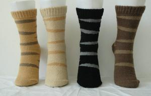China Luxury Bilateral Cashmere + Spandex Custom Sports Striped Socks for Women on sale