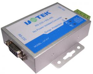 China RS232 To RS485 RS422 Serial Converter UT-217 / 217E With Baudrate 115.2Kbps on sale