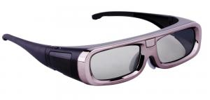 China Low energy Red color active shutter bluetooth 3d TV glasses with alarm for Samsung on sale