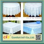 China Elegant Patterned Lace Round PVC Table Cloths  For Home , Hotel , Picnic or Restaurant wholesale