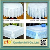Elegant Patterned Lace Round PVC Table Cloths  For Home , Hotel , Picnic or Restaurant