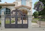 Villa Aluminum Electric Garden Door Opening Type With Remote Control Motor Shaft 4.5m