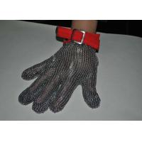 Safety Wire Mesh Stainless Steel Gloves For Protection Industry , Five / Three Finger Type