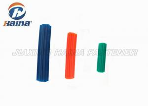 China Orange / Blue / White 5/16x1 Concrete Anchor Bolts , Plastic Nylon Wall Plugs on sale