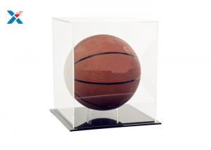 China Recyclable Clear Acrylic Display Case For Basketball Baseball Football Soccer on sale