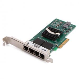 China Femrice 10/100/1000Mbps Quad Port RJ45 Slots Ethernet Server Adapter Intel I350 Gigabit Controller Server Network Cards on sale