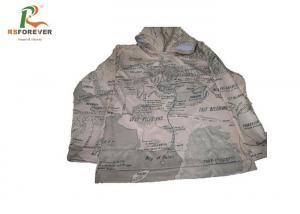 China Mens Grey Camo Hooded Sweatshirt Jacket Long Sleeve Fleece Sweat Suits on sale