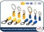 Brass / Copper Insulated Crimp Wire Ring Terminal 22 - 16 AWG High Conductivity