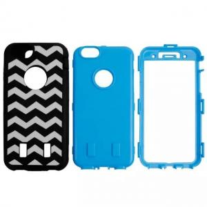 China Black & White Wave Pattern PC & Silicon Back Cover Combo Case Iphone 6 Shell on sale