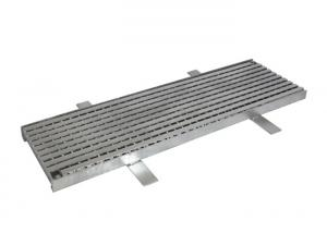 China Smooth Flat Surface Heel Guard Grate , Dust Proof Trench Drain Frame And Grate on sale