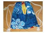 Portable Beach Towel Drawstring Bag Reactive Printing With Smooth / Dot Embossing