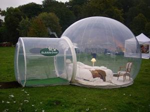 China Transparent Dome Camping Inflatable Clear Tent on sale