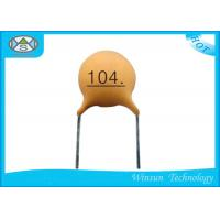 China Mid / Low Voltage Multilayer Ceramic Capacitor Yellow Small Size For Coupling on sale