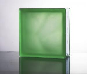 China Cloudy colored blue green acid etached glass blocks China suppliers on sale