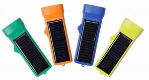 China solar power flashlight on sale