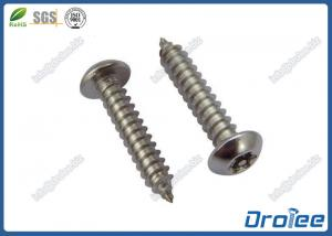 China 18-8 / A2 / 316 Stainless Pin Torx Button Head Tamper Proof Sheet Metal Screws on sale