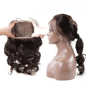 China 10A Hot popular 100% unprocessed Body wave 360 lace band frontal with pony tail on sale