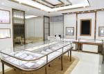 Luxury Design Showroom Display Cases Eco - Friendly Material Covered With Glass Panels
