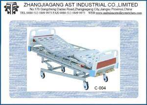 China Electric Three Function Three Position Automatic Adjustable  Wood Homecare Bed Motorized on sale