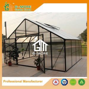 China Aluminum Greenhouse-Titan series-406X506X302CM-Green/Black Color-10mm thick PC on sale