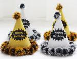 Gold and Silver Hair Ball Birthday Hat Adult Children's Birthday Birthday Party Paper Hat Exquisite burrs Report