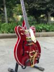 Custom shop ES-335 F hollow body jazz Electric Guitar 6 Strings red guitar with Gold hardware vibrato system