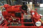 Customized Diesel Fire Sprinkler Pumps / Red High Pressure Fire Fighting Pumps