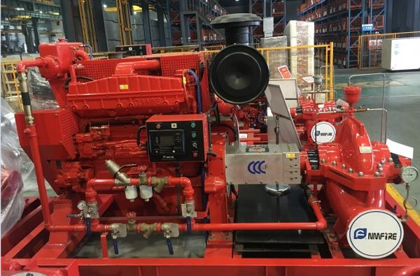 Customized Diesel Fire Sprinkler Pumps / Red High Pressure Fire