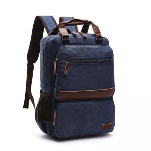 China Five Colors Washable College Student Backpack Canvas Large Capacity For Men on sale