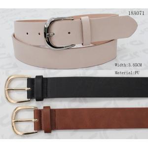 Pointed Belt Tip Women'S Black Belts For Jeans Gold Nickel Zinc Alloy Buckle
